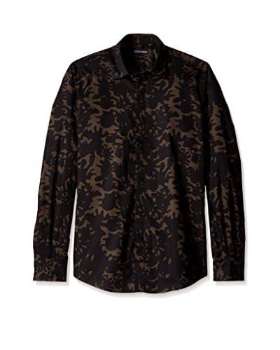 Antony Morato Men's Slim Camo Print Shirt