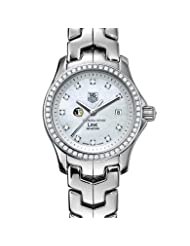 Florida State Women's TAG Heuer Link Watch with Mother of Pearl Diamond Dial and Diamond Bezel