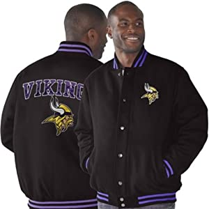 Minnesota Vikings Playoff Button-up Wool Jacket by Unknown