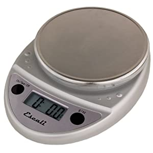 Primo Digital Kitchen Scale 11Lb/5Kg, Chrome color