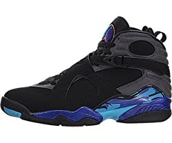 Nike Men s Air Jordan 8 Retro Bugs Bunny Basketball Shoe Black/Flint Grey/Bright Concord/True Red 13 D(M) US