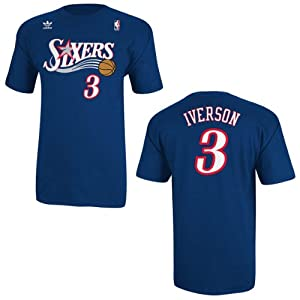 Philadelphia 76ers Sixers Adidas Allen Iverson Throwback Adidas T Shirt by adidas