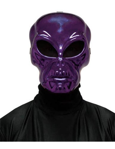 Scary-Masks Alien Hockey Purple Mask Halloween Costume - Most Adults