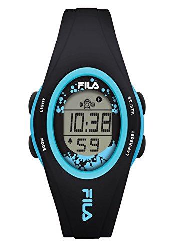 Unisex-reloj fila cuarzo digital 38-050-104 fila casual colour negro plástico