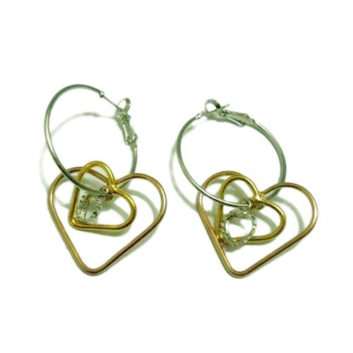 Heart-shaped Dangling Earrings