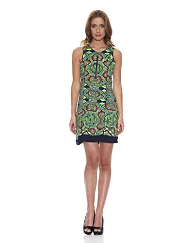 Peace & Love Vestido Estampado Verde