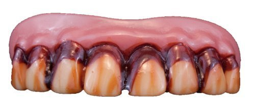 Zombie Teeth Adult, One-Size, Red