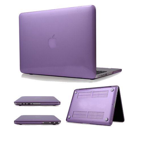 "Easygoby Retina 15-Inch Crystal Hard Case For Macbook Pro 15.4"" With Retina Display (Model No. A1398) Shell Cover - Purple"