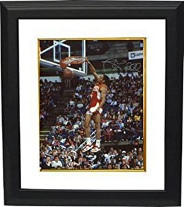 Spud Webb signed Atlanta Hawks 16x20 Photo Custom Framed (1986 Slam Dunk Champ front)