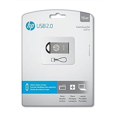 HP v221w Metal 16GB USB 2.0 Flash Drive - P-FD16GHP221-GE