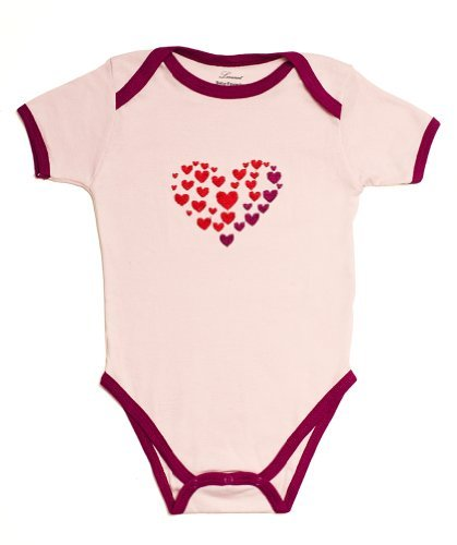 Leveret Bodysuit Variety (0-3 Month, Hearts)