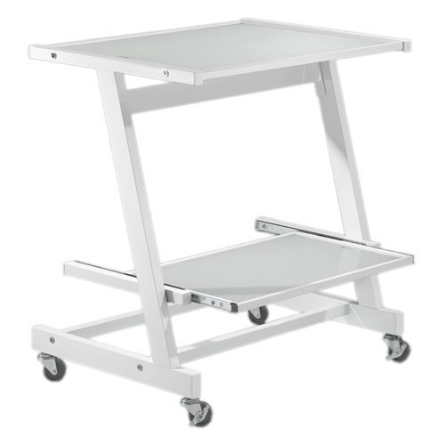 Buy Low Price Comfortable Zeus Computer Cart (White) (28.74″H x 26.77″W x 19.09″D) (B005F15MZC)