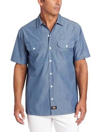 Dickies Men 39 S Big Short Sleeve Chambray Shirt
