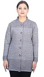 Romano Women's Woolen Sweater(ROMWOMSWEATERD_XL_Grey_X-Large)