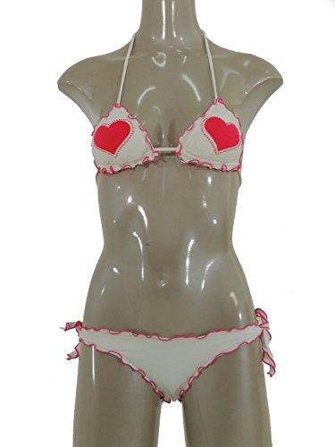 Twin-Set beachwear bikini triangolino con patch e microborchie S3BBS3D22 (1)