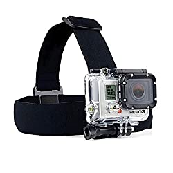 Zoukfox Waterproof Head-strap Camera Mount That Works for Any Gopro Camera Including Gopro Hero, Hero 2, Hero 3, Hero3+, Hero 4, Hero 4 Black, Hero 4 Silver, Hero+ Lcd, and Hero 4 Session