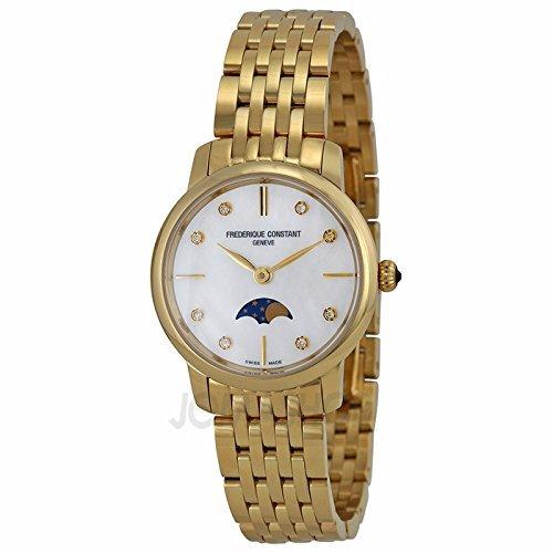 Frederique Constant Frederique constante Slimline Madre de Perla Dial Damas Reloj