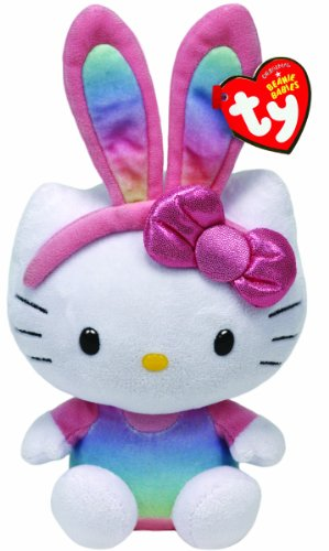 Ty Beanie Babies Hello Kitty Rainbow Bunny Ears Plush - 1