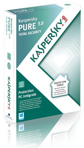 Kaspersky pure 3.0 total security (5 postes, 1 an)