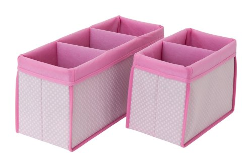 Delta Children 2 Count Nursery Organizer Bin Set, Pink