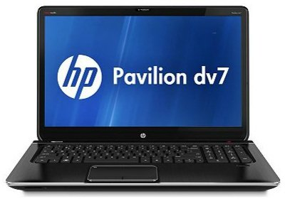 HP Pavilion DV7-7012nr Notebook PC, Midnight Black, 16GB RAM Upgrade