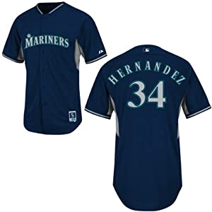 Felix Hernandez Seattle Mariners Navy Batting Practice Jersey by Majestic by Majestic