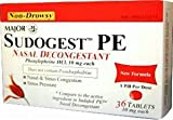 Sudogest PE Generic for Sudafed PE Nasal Decongestant Phenylephrine HCl 10mg Tablets 108-count 3 Pack of 36-count