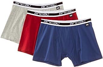 Animal Men's Albert Boxer Shorts, Multicoloured (Assorted), XX-Large