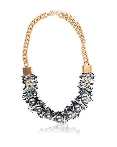 Alibey Accesorios Collar  Dorado / Gris