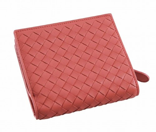 BOTTEGA VENETA(ボッテガヴェネタ) Wallet 二つ折り財布(小銭入れ付) サーモンピンク(114073 V001N 6502 )