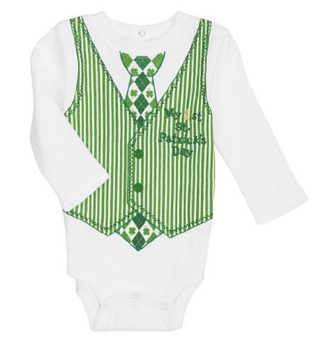 St Patricks Day Baby Outfit front-1051749
