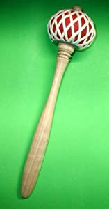 "Gong LARGE Teak Wood Striker Mallet Music Percussion 11"" Long"