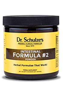 Dr. Schulze's Intestinal Formula #2 Deep Herbal Colon Bowel Cleanse Laxative Powder, 8 Ounce
