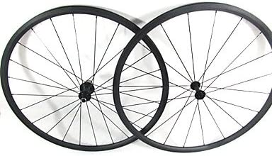 Farsports-700c Road 24mm Full Carbon Clincher Road Bicycle Wheelset - Red - Shimano
