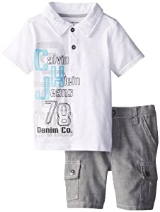 Calvin Klein Boys 2-7 Toddler Cargo Shorts from Calvin Klein