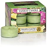 Yankee Candle Pineapple Cilantro Tea Light Candles, Fruit Scent