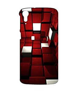 Crazymonk Premium Digital Printed 3D Back Cover For Htc 828