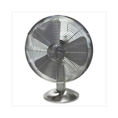 "Soleusair 12"" Retro Metal Table Fan, 3 Speed, # Ft1-30-42"