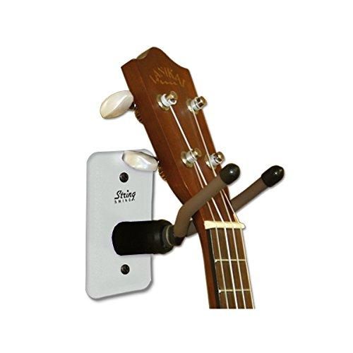 String Swing Home & Studio Ukulele/Mandolin Hanger White Metal