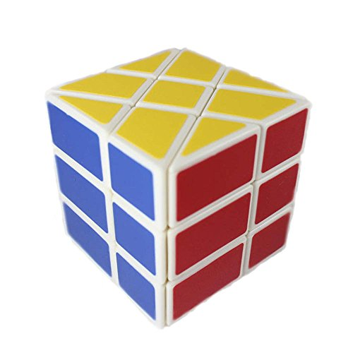 GoodPlay YJ Windmill Cube White 3x3x3 Shape Mod Twisty Puzzle Toy 3x3 - 1
