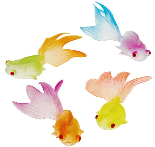 US Toy Glow in the Dark Goldfish Party Accessory (12 Count)