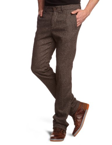7 For All Mankind Men's SMCM640BR Slim and Skinny Trousers Brown Tweed Brown 36/34