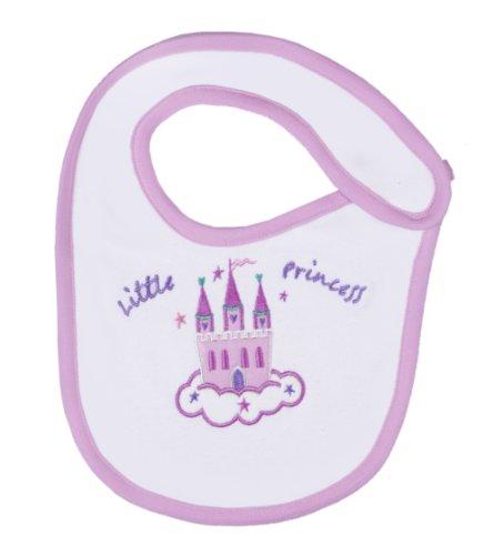 Funkoos Castle Organic Cotton Bib for Newborn Baby Infant Girl - 1