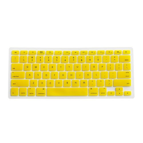 Yellow Silicone Keyboard Cover Skin for Macbook Pro 13 inch