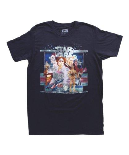 Mighty Fine Star Wars Vintage Poster Art T-Shirt Indigo 0