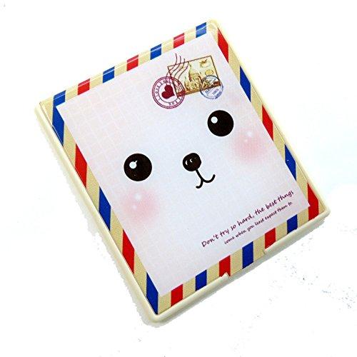 二つ折りファンシーコンパクトミラー 犬 封筒 CMー504