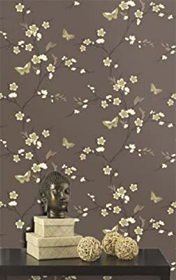 Holden Snow Blossom - Chocolate Wallpaper