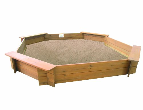 Garden Games Limited 1.8m Octagonal Wooden Sandpit (natural wood)
