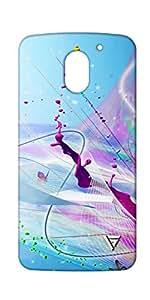 Vogueshell Colour Drops Printed Symmetry PRO Series Hard Back Case for Motorola E3