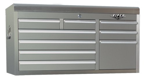 Viper Tool Storage V4109SSC 41-Inch 9-Drawer 304 Stainless Steel Top Chest